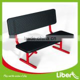 Galvanized steel outdoor park bench with PVC coated LE.XX.063