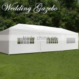 10' x30' BBQ Gazebo Pavilion White Canopy Wedding Party Tent With Side Walls
