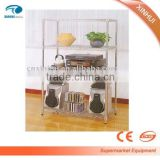 Different style chrome wire metal shelf display stand with NSF certification