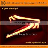 New Arrival Light Guide LED Tail Light for Honda Jazz Fit Super Quality LED Rear Lights for Honda Jazz Fit 2014 2015