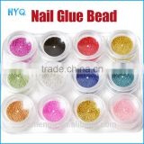 12 Color Bottle Set Caviar Nails Decoration Circle Bead Decoration 3D DIY Colorful Beads Nail Decoration