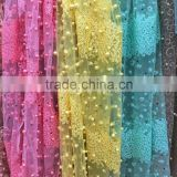 dubai lace fabric market wholesale beaded african lace fabrics tulle lace of high quality with pearls