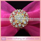 Hot sell gold round diamante rhinestone napkin ring for wedding table decoration