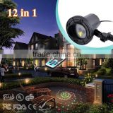 NEW Outdoor Laser Light 12 Patterns RG Lighting Projector Show Outside Garden Light Home Xmas Palm Tree