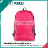 Large Capacity Custom Logo 210D Ripstop Polyester Foldable Travel Backpack