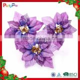 Partypro 2015 New Christmas Indoor Decorations Colorful Plastic Wholesale Artificial Orchid Flowers