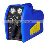 A/C Portable double voltage piston type Auto Refrigerant Recovery Recycling Machine / Unit with oil-less compressor RECO250SD