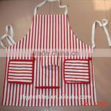 popular kitchen set 100% cotton twill apron,oven mitt ,tea towel and oven glove in red stripe printing-42                                                                         Quality Choice