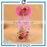 Hot sale 0.2mm wall thickness beautiful transparent PVC plastic UV printing plastic box candy box                                                                                                         Supplier's Choice