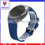Blue Smart Watch Bracelet Silicon watch Band /Leather Strap Wristband For SAMSUNG GEAR S R750