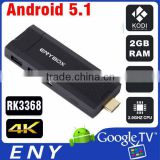 Rockchip RK3368 Dongle Octa Core Android 5.1 2GB RAM 8GB ROM HDMI 2.0 4K 2K Smart TV Stick ENYBOX RK3368 TV Dongle