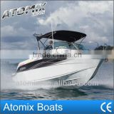 6m fiberglass motor boat with cabin (600 Sports Cuddy)