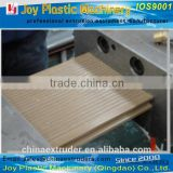 wpc extrusion profile making machine / wood plastic terrace board fence railing wall siding panel production line
