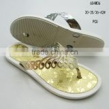 Hot sale good quality comfortable elegant sexy ladies&girls PCU flat clip-toe slippers