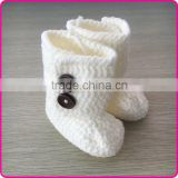Custom handmade colorful baby booties crochet baby walking socks knitted baby booties