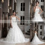 Actual Image Sweetheart Ball Gown Soft Lace Beaded Floor Length Beaded Wedding Dress xyy03-084