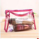 2016 Wholesale Promotion PVC bag/transparent PVC cosmetic bag/clear pvc cosmetic bag Quality Choice