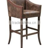 wood and leather bar chair restaurant bar furniture restaurant lounge bar furniture HDB567