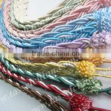Cheap colorful charming curtain rope tieback, curtain accessory manufacturer