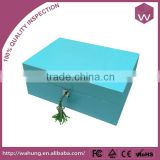 Eco-Friendly Blue Lacquered Wooden Jewelry Box/Wholesale Custom Jewel Case Painting As Your Favor Image