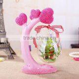 Customized refined chinese tea gift garden fairy statues gift basket wicker baskets , gift certificates