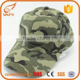 wholesale 3D embroidery camo 6 panel baseball cap customizable 100% cotton baseball cap hat