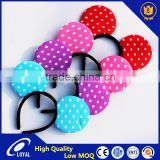 Four Color Mickey Mouse Ears Headband With White Polka Dot Printings