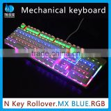 RGB mechanical Gaming Keyboard with Anti-Ghosting Keys & Six LED Lights