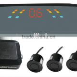 Car Mirror style LED Parking lot sensor system with 4 Sensors