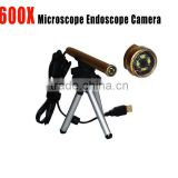 600x usb microscope camera 0.3MP microscope with take photo and record video