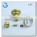 High quality 1.5 inch brass back connection pressure gauge for propane gas