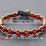 New style pure handmade copper bohemia flower girls fashion bracelet