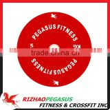 2016 New Red 5kg Rubber Bumper Plate with logo