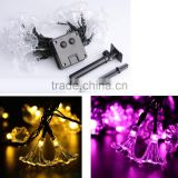 20LED Solar Power Outdoor Pattery Decor Lamp Morning Glory Shape String Lights