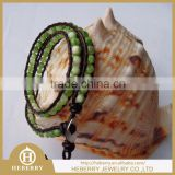 new fashion bead landing leather bracelet with high quality