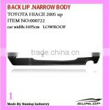 toyota body parts rear lip #000722 hiace back lip Under Back Bumper for toyota hiace 2010-2013