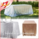 wholesale polyester embroidery beaded glitter metallic sequence wedding rose gold sequin table cloth