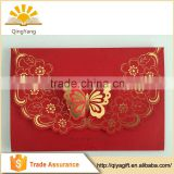 lace special butterfly hot stamping wedding custom invitation envelope
