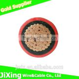 Double PVC Jacket Bare Copper Conductor Electric Wire Cable, BVV