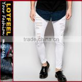 best stretch jeans Distressed denim man jeans pant with Rip Knee jeans manufacturers turkey mens european jeans(LOTA036)