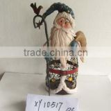 holiday tabletop decor vintage wrought iron Father Christmas Metal Santa Claus figure, wholesale christmas ornament supplier
