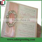 baby pink elegant wedding invitations with pearl wholesale party city wedding invitations card do it yourself wedding invitation