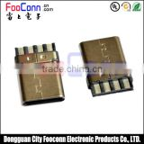 usb 3.1 c type male connector for solder type