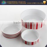 Wholesale ceramic modern decal dog bowl for Manufacturer's promotion