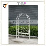 Metal artistic garden arch with bench for outdoor wedding