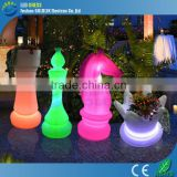 Colored led giant chess set