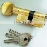 Solid brass cylinder lock with knob 70mm