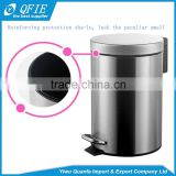 Wholesale silver eco-friendly cylinder lowes stainless steel trash can with the foot pedal