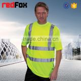 short sleeve reflective safety t-shirt flame retardant t-shirt wholesale safety polo t-shirt