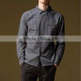 Men's long-sleeved british plaid cotton shirt
